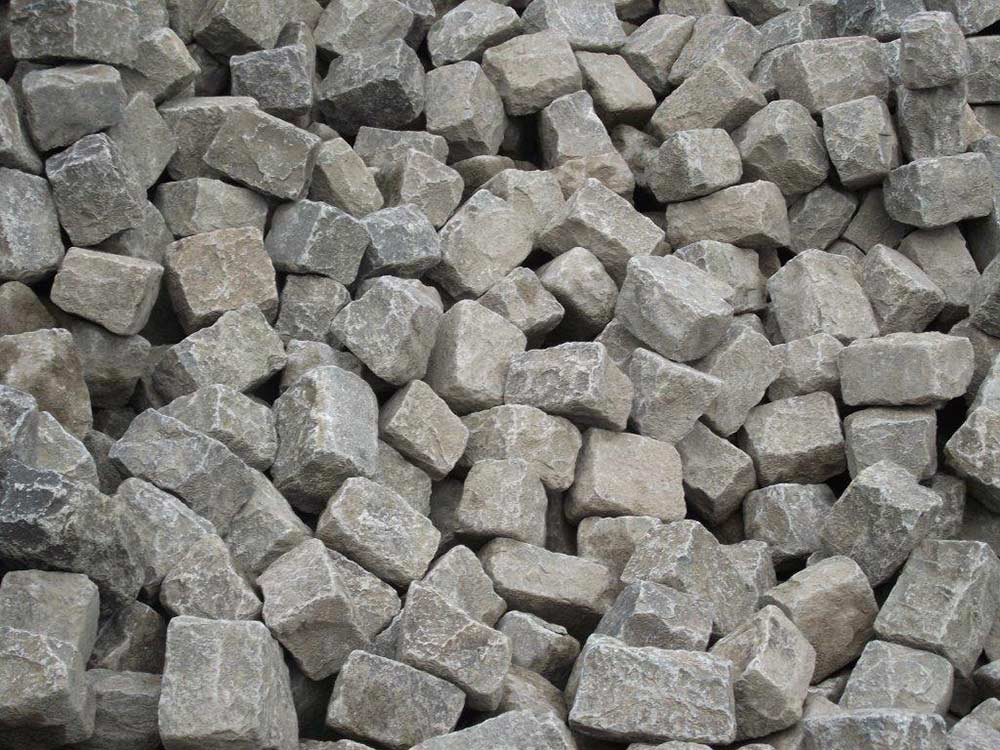 Pavés granit de Lyon ; Stock permanent en pavés de récupération ; Réf : PL02