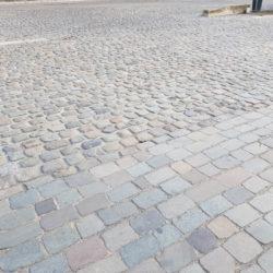 Matériaux anciens_Pavés de Lyon dessus scié