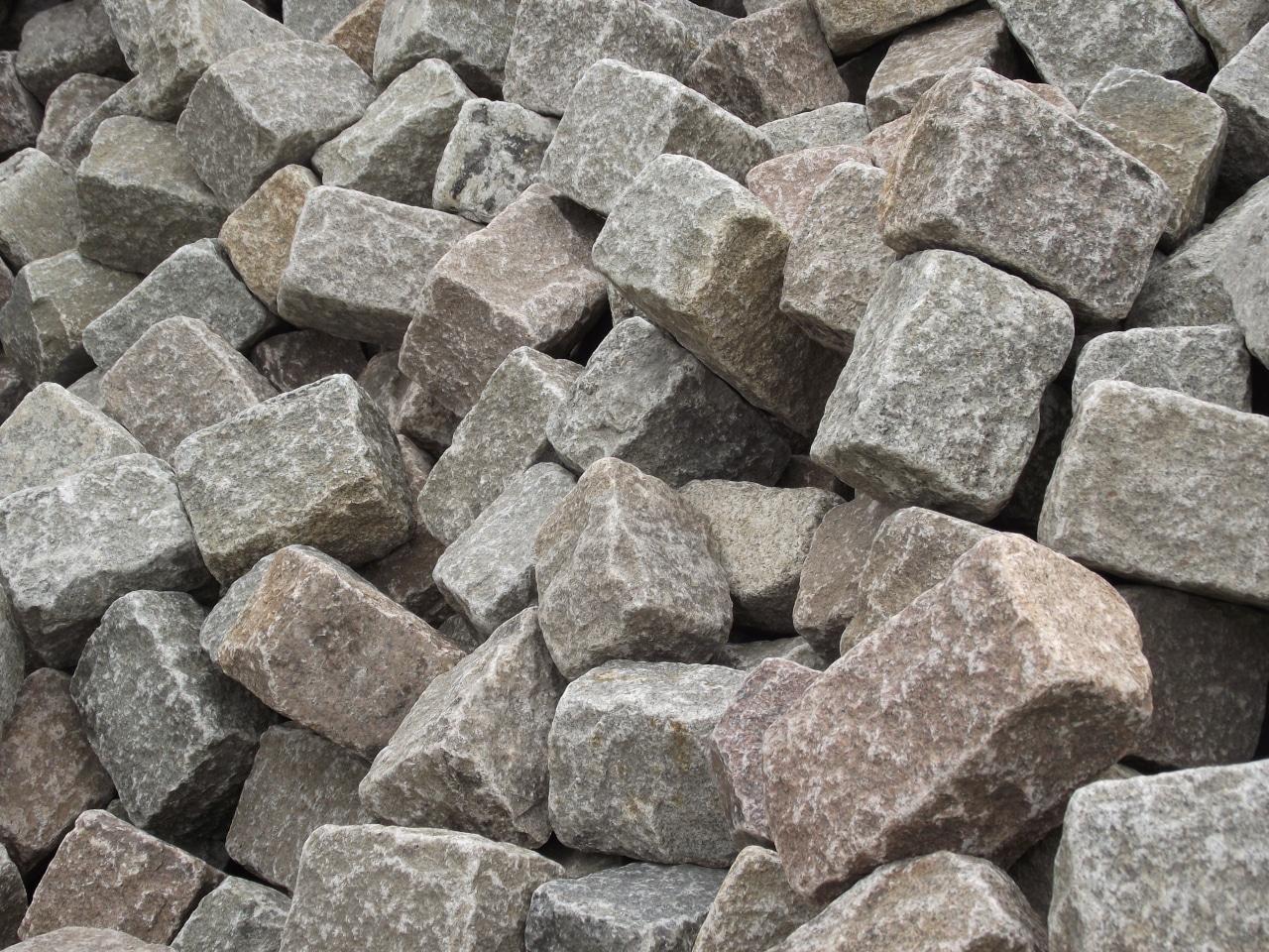 Pavés entiers de Paris en granit