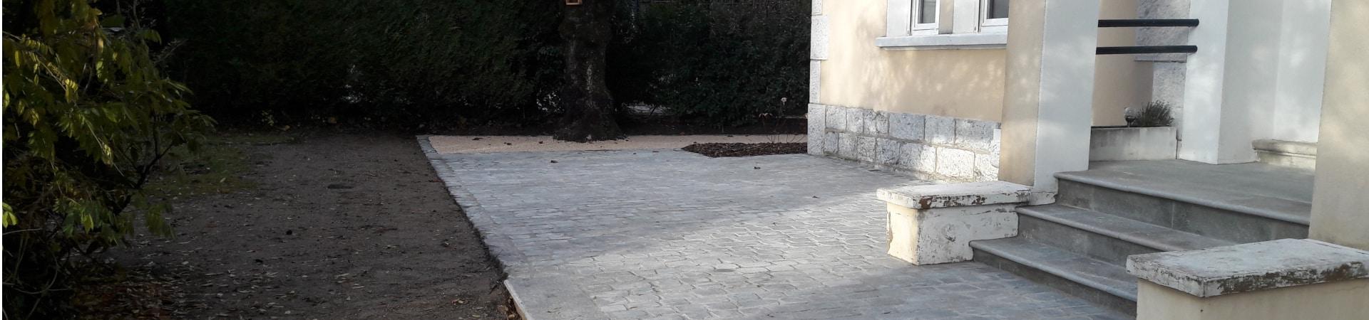 Aménagement paysager à Tresserve_ pavés de Lyon