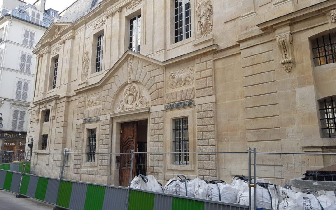 Visite de chantiers à Paris où nos pierres et pavés anciens ont trouvé leur place
