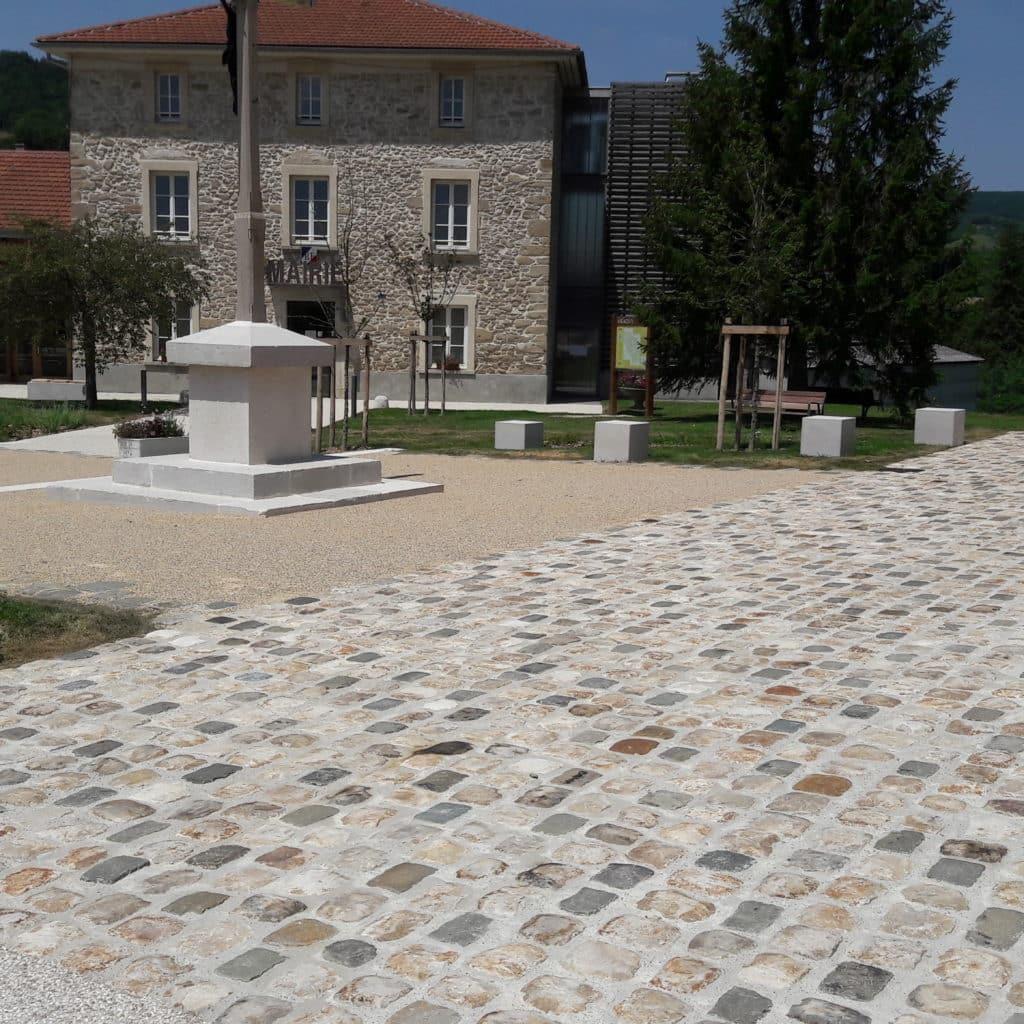 Réalisation pavés grès de Fontainebleau