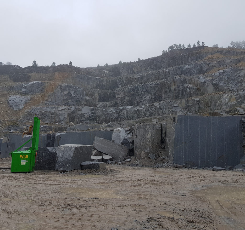 Carrière de granit Alto Douto au Portugal