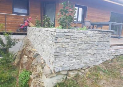 Placage muret en Pierre des Alpes