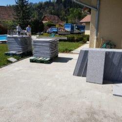 Dalles en granit pour terrasse