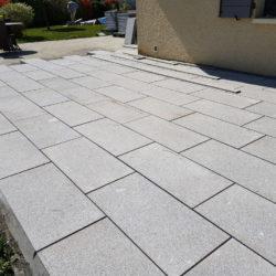 Pose de dalles granit pour terrasse