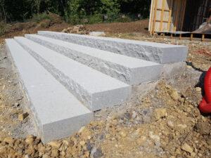blocs marches granit