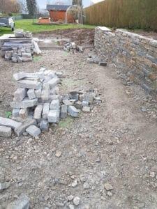 Mur en pierres sèches des Alpes